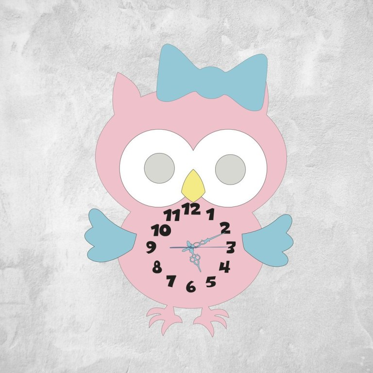 Multilayer Owl Clock Cnc Laser Cutting Free CDR Vectors Art