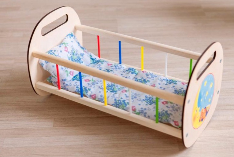 Rocking Crib For Dolls Laser Cutting Template Free CDR Vectors Art