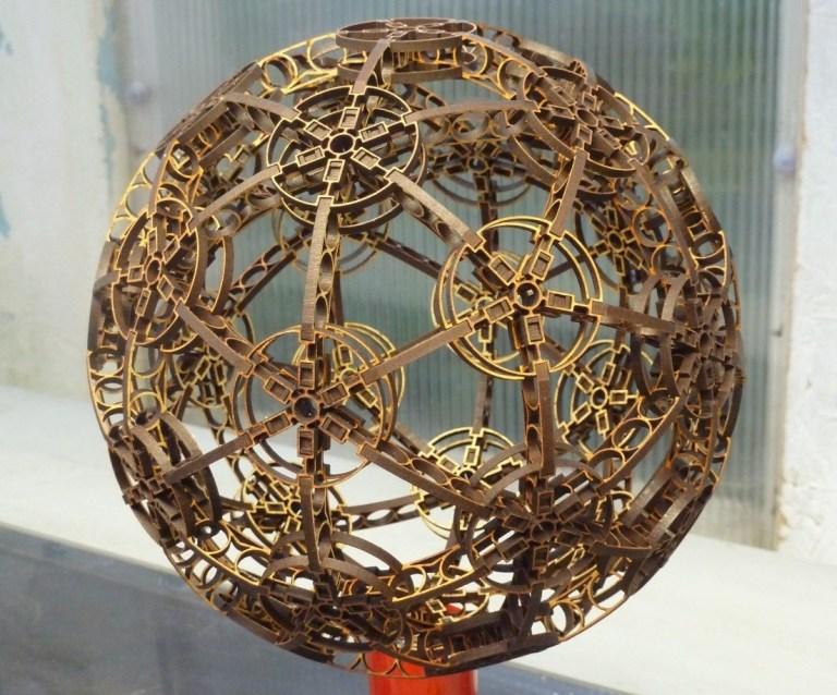Wooden Decorative Sphere Free CDR Vectors Art