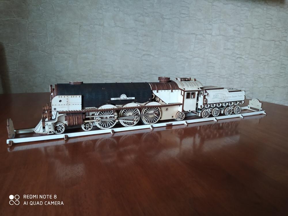 Laser Cut Steam Locomotive 4mm Free CDR Vectors Art