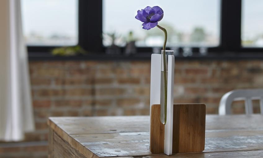 Laser Cut Test Tube Vase Free CDR Vectors Art