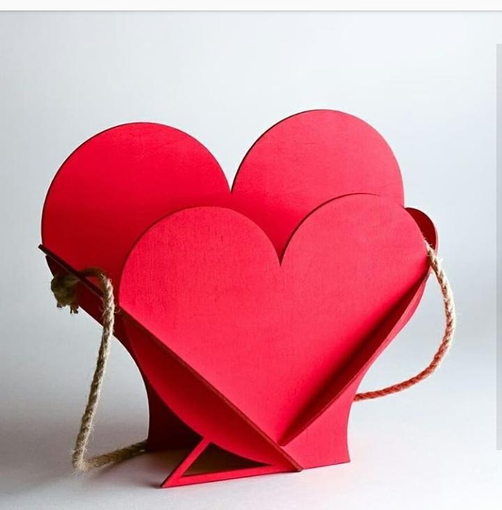 Laser Cut Valentine Day Gift Heart Shape Basket Free CDR Vectors Art