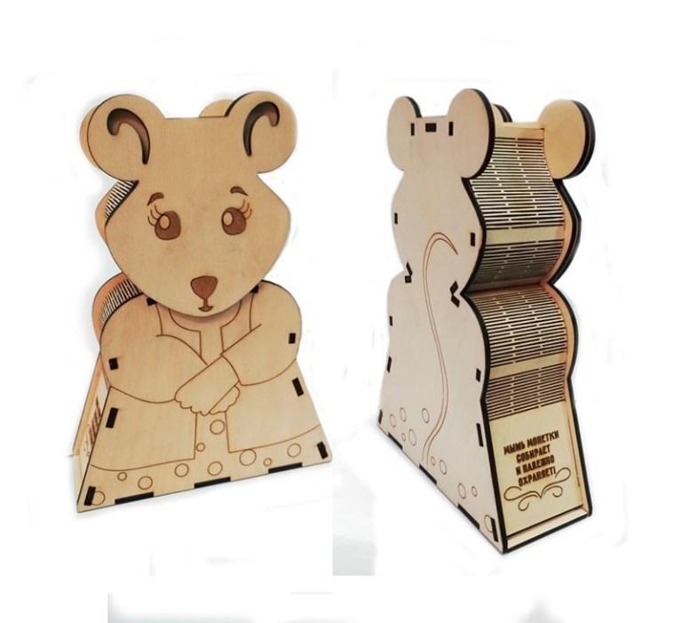 Love Mouse Pigi Box Cnc Cutting Free CDR Vectors Art