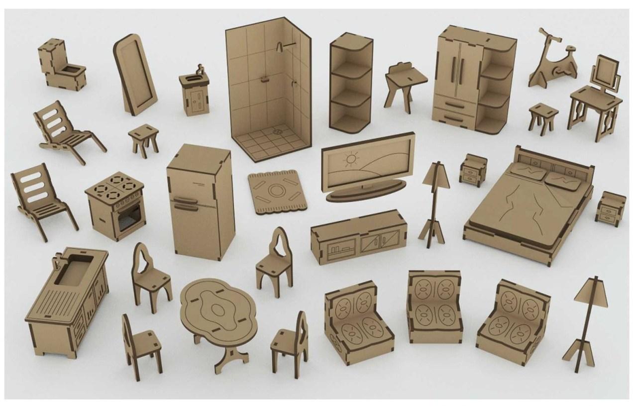Mini Furniture Laser Cut Plan Free CDR Vectors Art