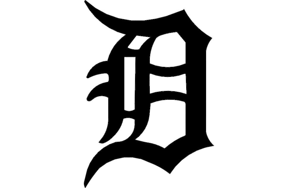 Detroit D Free DXF File