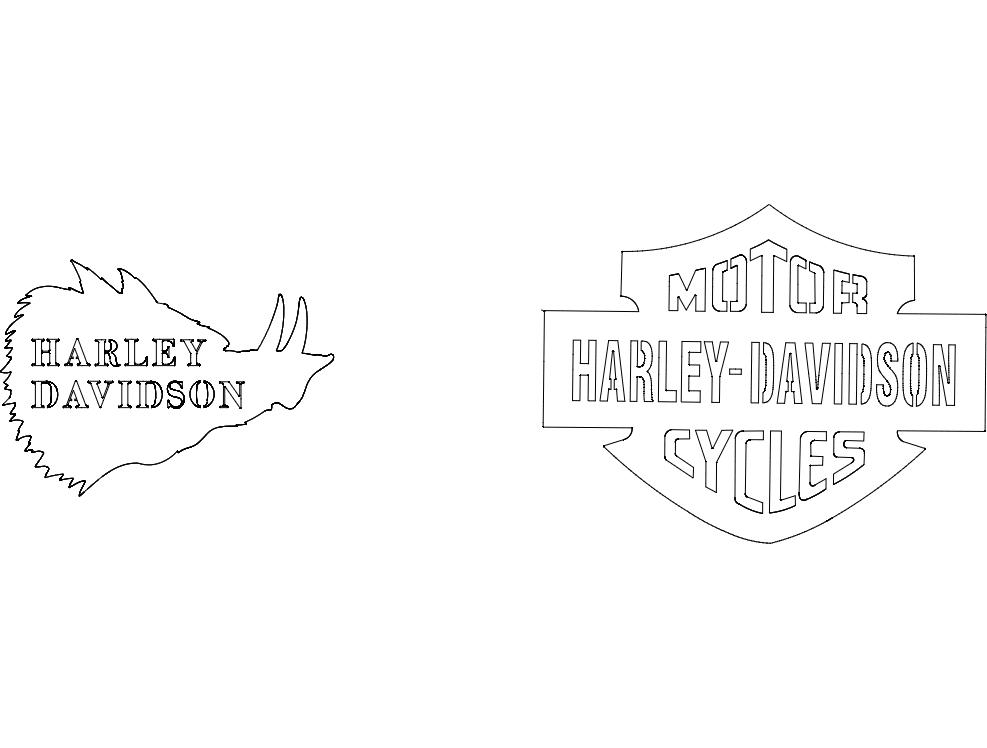 Harley Davidson Free DXF File