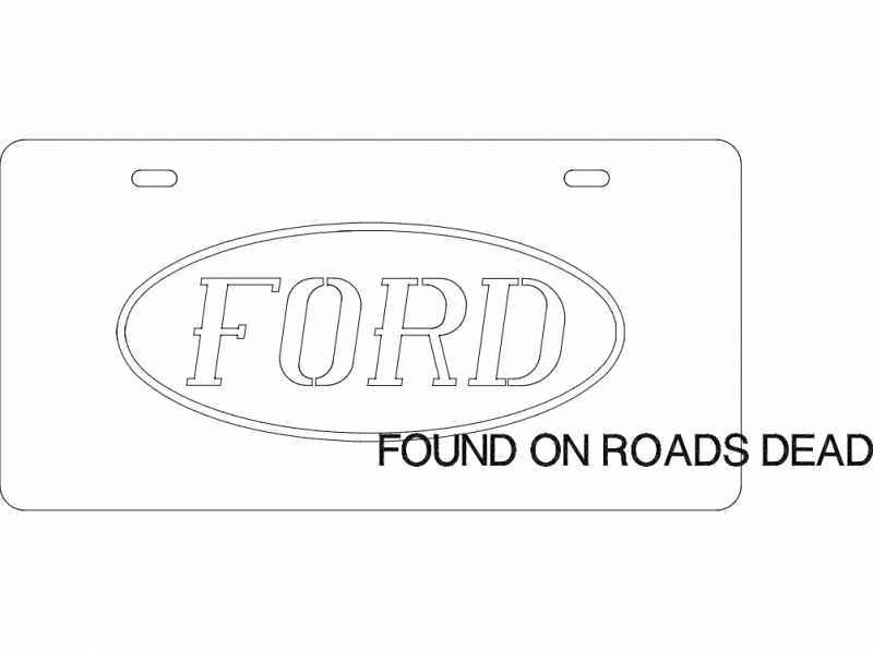 Ford Plate Free DXF File