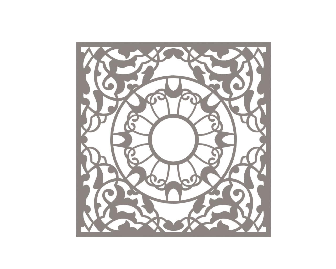 Vector Mandala Free DXF File