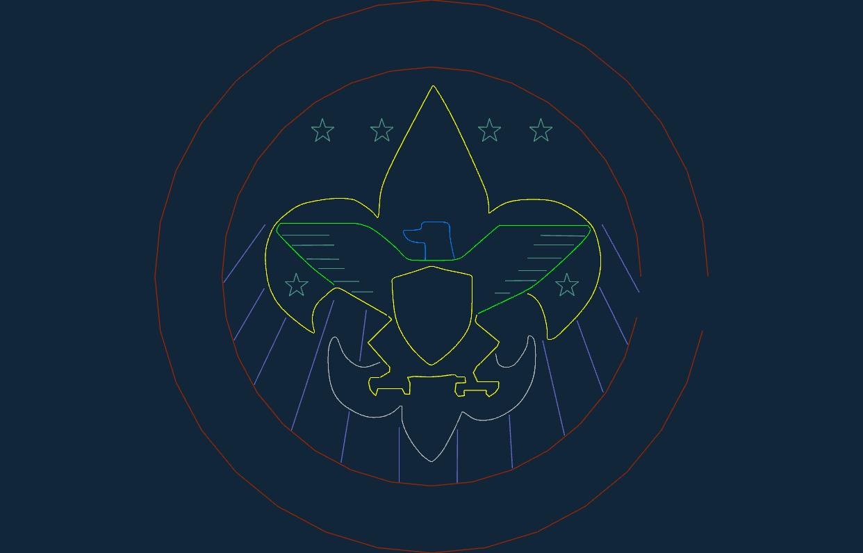 Boy Scouts Free DXF File