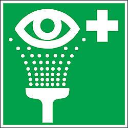 green-eyewash-sign Free DXF File
