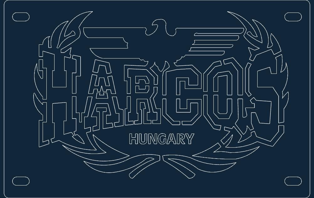 Harcos Rendszam Free DXF File