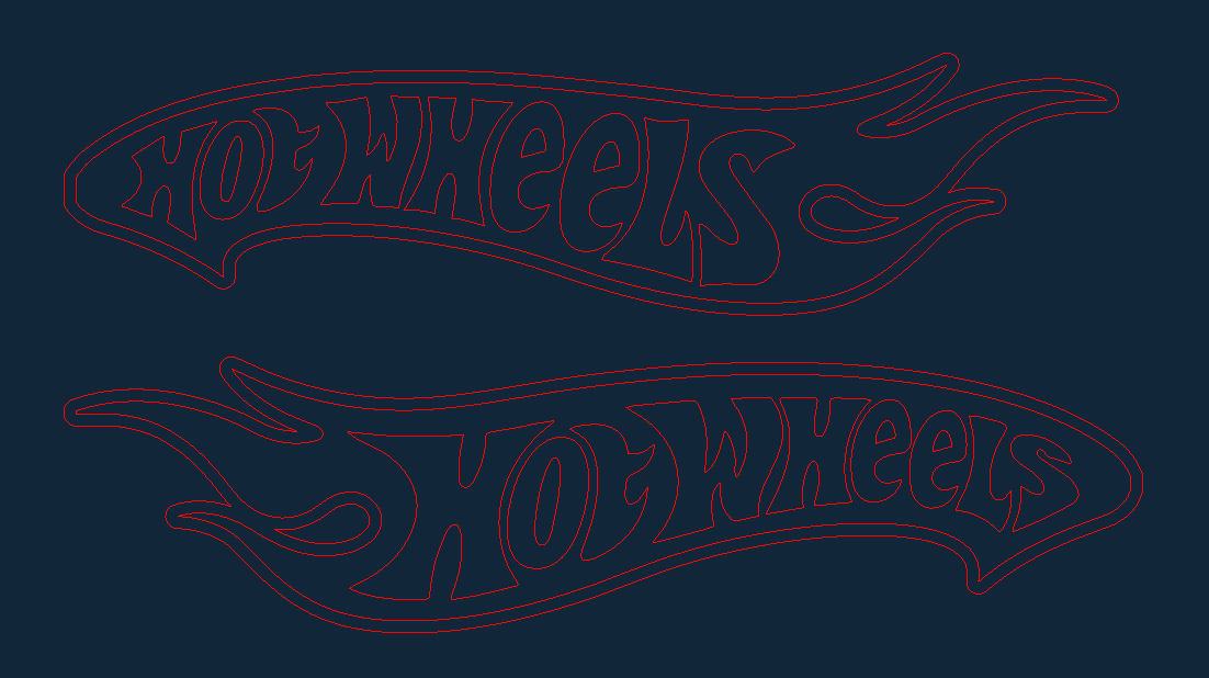 Hot Wheels D New Free DXF File