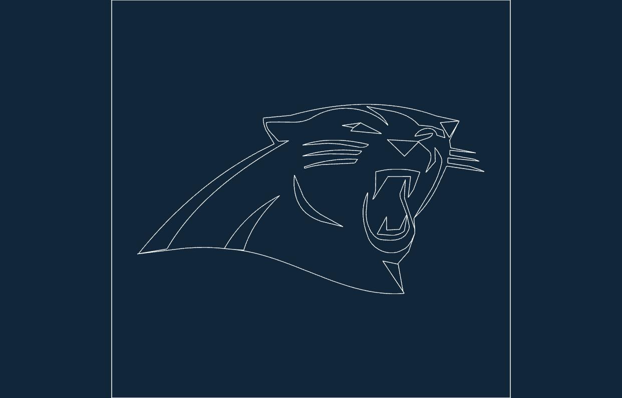 Panthers Logo Free DXF File