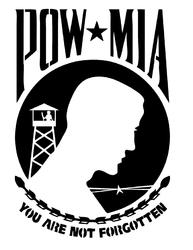 Pow Mia Metal Cut Out Free DXF File