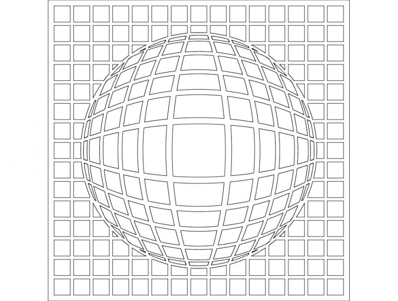 3d G Bekli Kare Free DXF File
