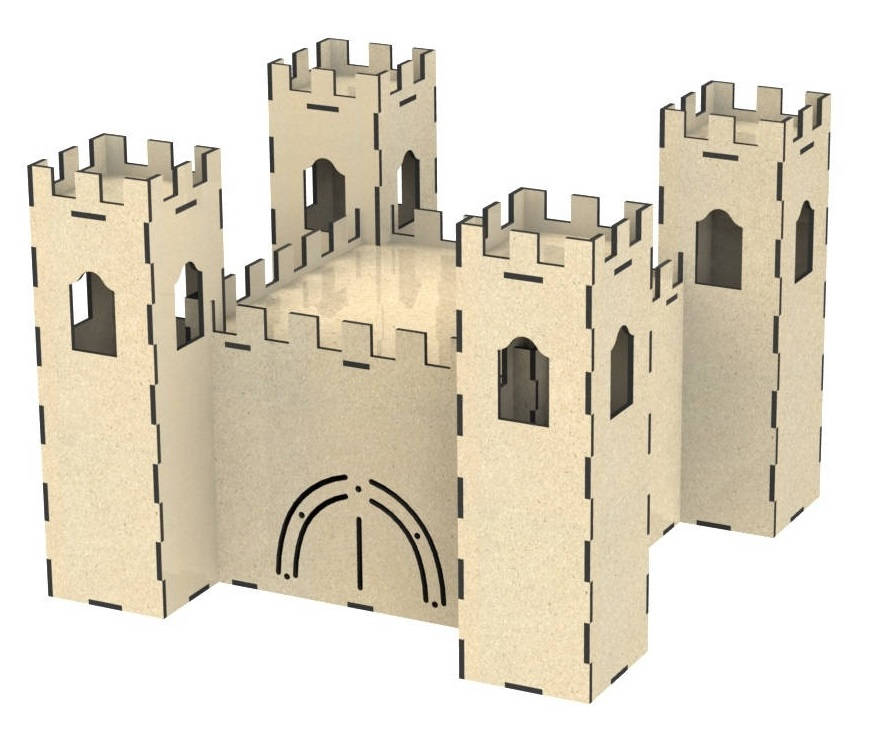 Castle Doll House Jigsaw Puzzle Free DXF File