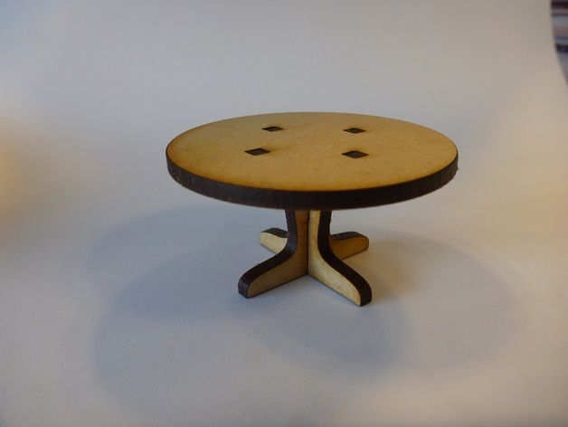 Round Table Furniture For Doll House Free DXF File
