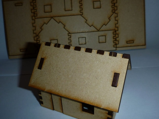 Tiny House Puzzle Free DXF File