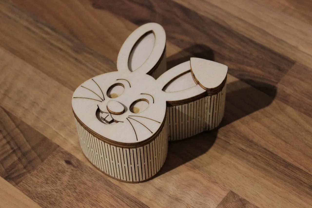 Wooden Rabbit Shape Box Free DXF File