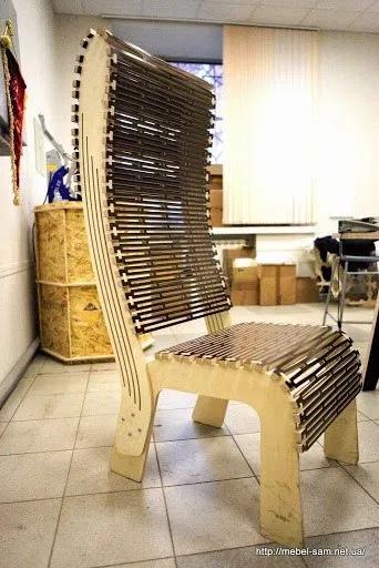Wooden Hinge Pattern Roacker Chair Free DXF File
