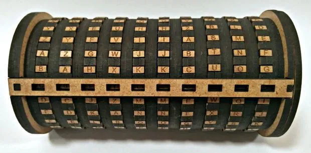 Wooden Name Stamping Device Free DXF File