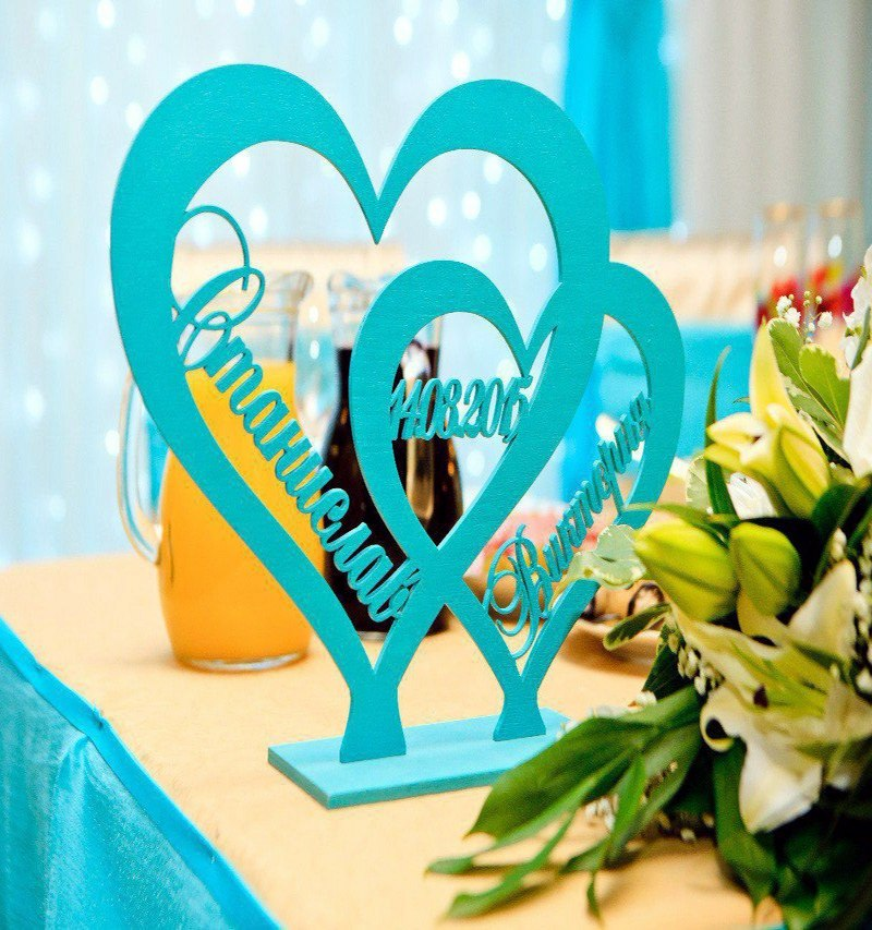 Laser Cut Heart Stand Decoration Free DXF File