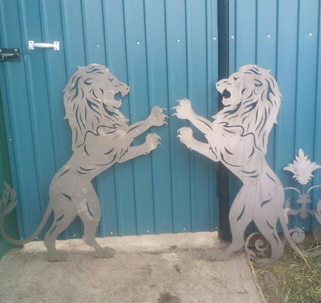 Laser Cut Lion Art Plasma Cut Free DXF File