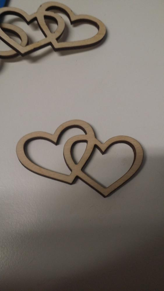 Laser Cut Wooden Two Hearts Love Design Free DXF File