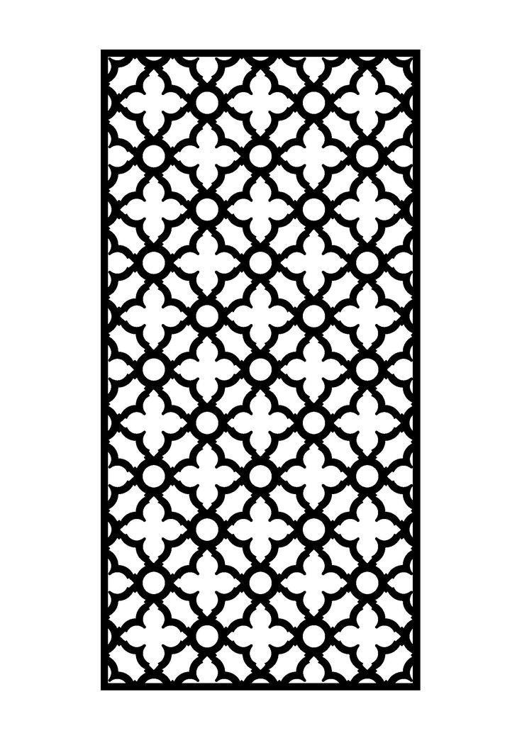 Laser Cut Door Free DXF File