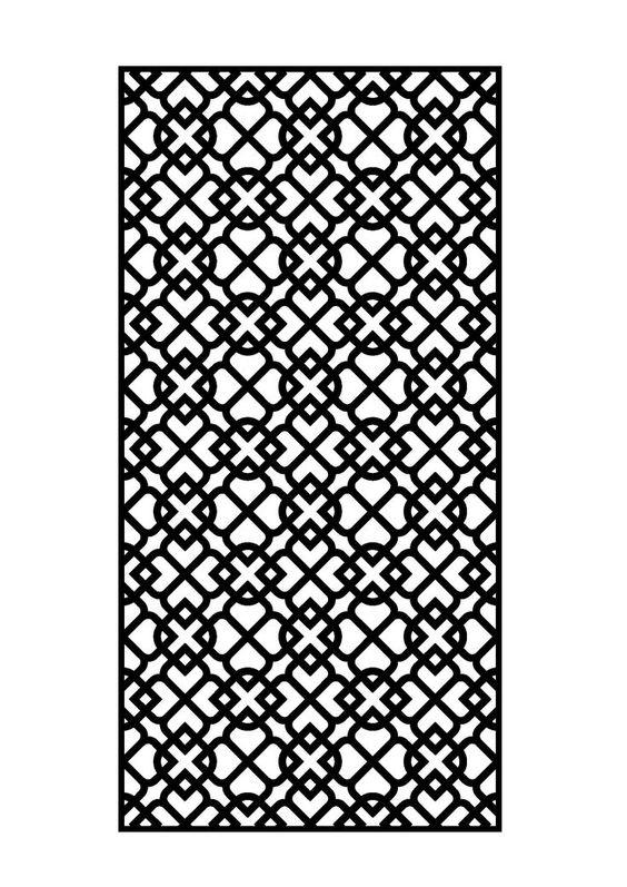 Laser Cut Metal Panel Free DXF File