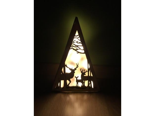 Laser Cut Christmas Reindeer Free DXF File