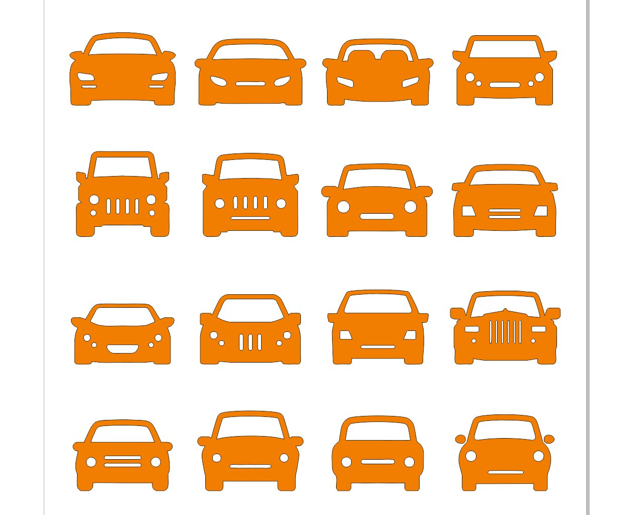 Laser Cut Cars Free CDR Vectors Art