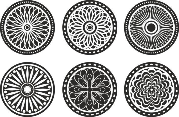 Circle Ornament Elements Free CDR Vectors Art