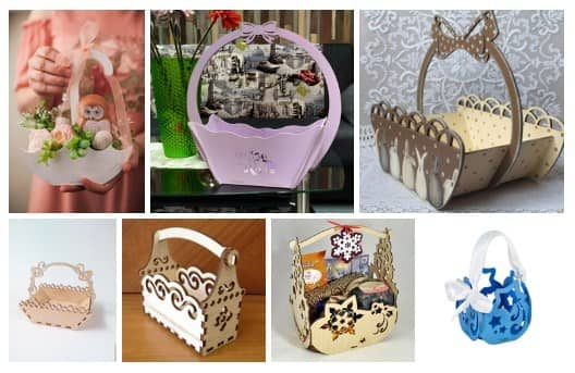 Gift Baskets Free Cnc Project Free CDR Vectors Art