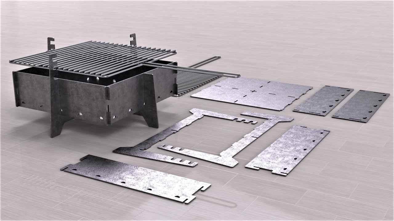 Laser Cut Folding Firebox Stove Patterns Free CDR Vectors Art