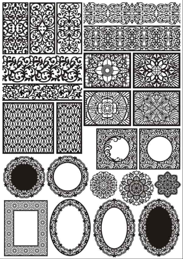 Laser Cut Panels Decorative Pattern Free CDR Vectors Art