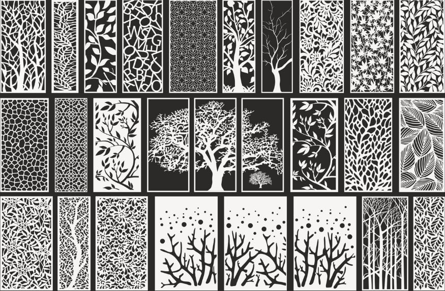 Laser Cut Screens Decorative Panels Free CDR Vectors Art