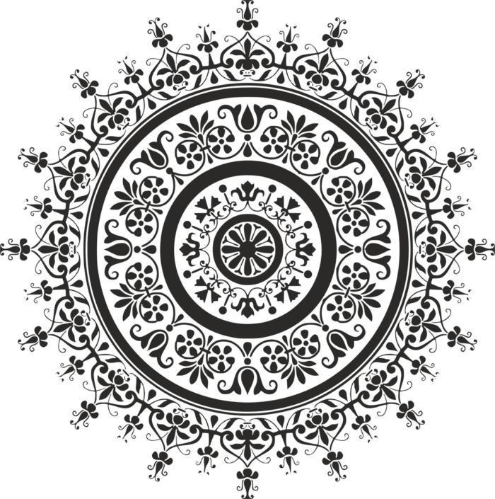 Black Mandala Free CDR Vectors Art