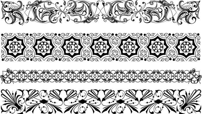 Borders Ornamental Set Free CDR Vectors Art