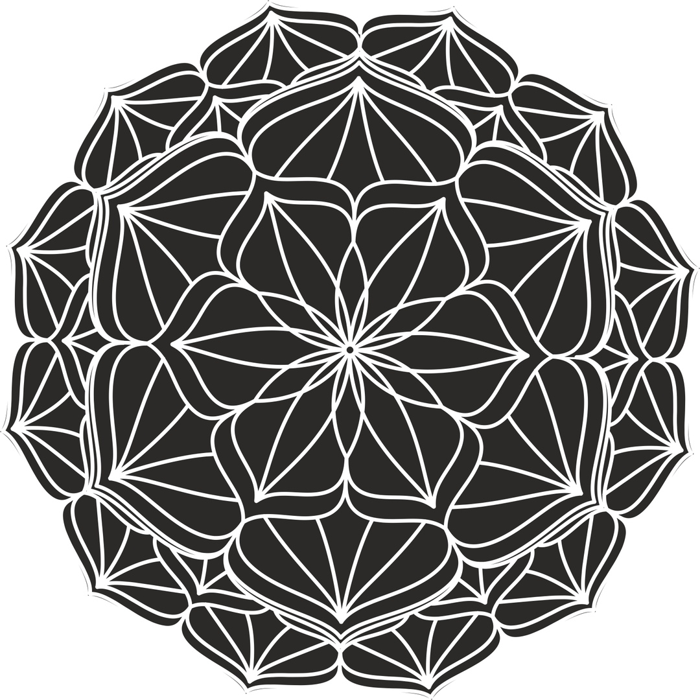 Circular Henna Mandala Free CDR Vectors Art