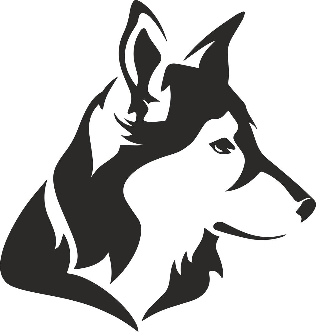 Dog Stencil Free CDR Vectors Art