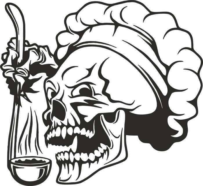 Skull Chef Free CDR Vectors Art