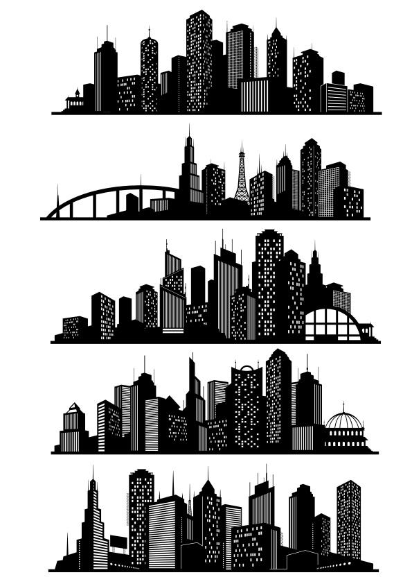 Cityscapes Free CDR Vectors Art