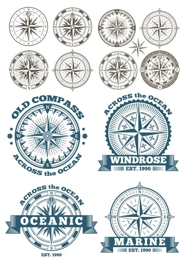 Compass Vector Set Free CDR Vectors Art