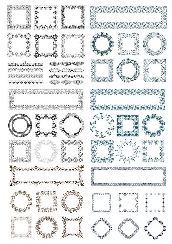 Decor Ornament Frame Free CDR Vectors Art