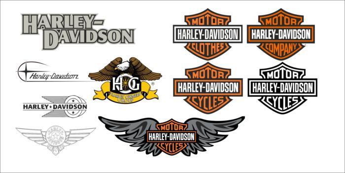 Harley Davidson Logo Vector Set Free CDR Vectors Art