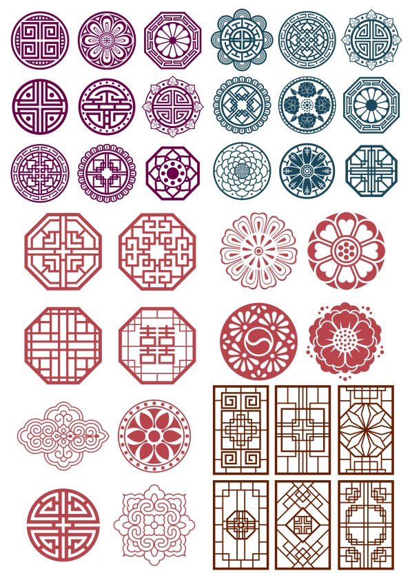 Korean Ornament Free CDR Vectors Art