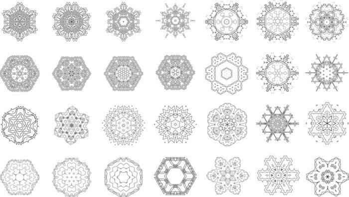 Mandalas Set Collection Free CDR Vectors Art
