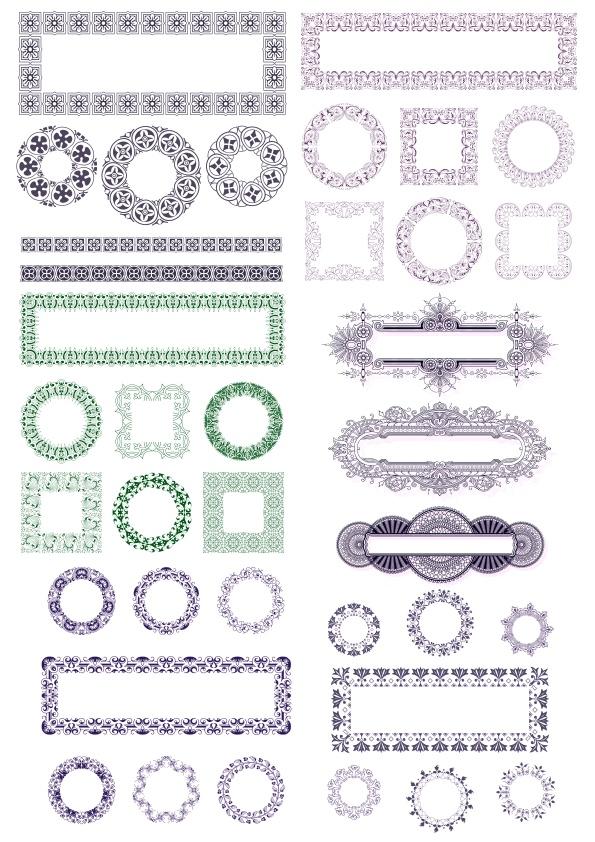 Ornaments Frames Free CDR Vectors Art