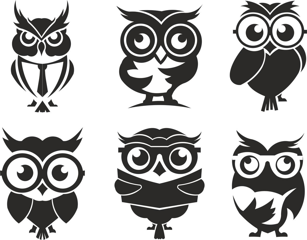 Owl Set Free CDR Vectors Art